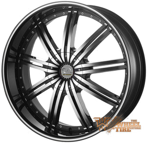 U2 U2-118 Wheel in Black Machined (Set of 4)