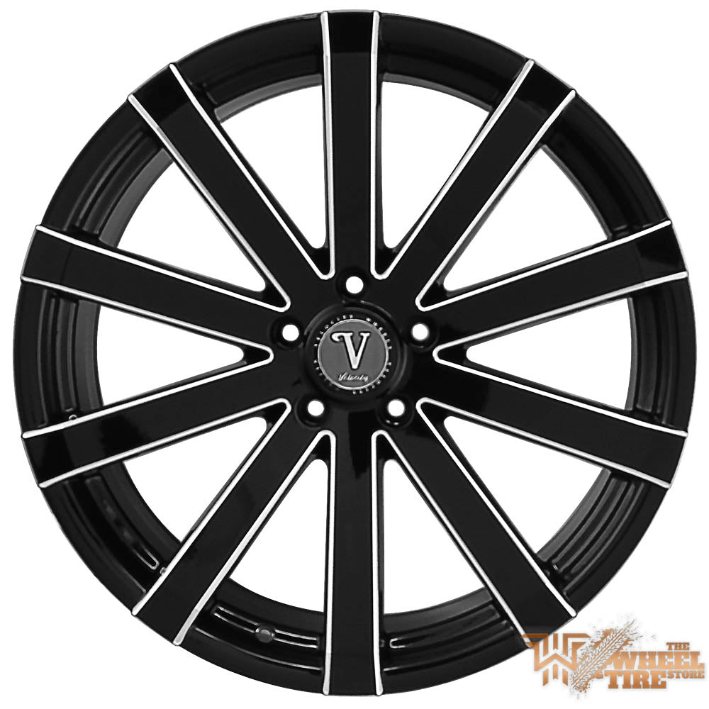 VELOCITY VW12 Wheel in Black w/ Milled Edges (Set of 4)