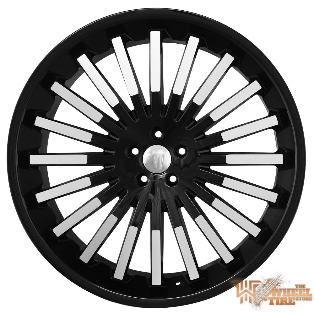 VELOCITY VW18 Wheel in Gloss Black with Machined Accents (Set of 4)