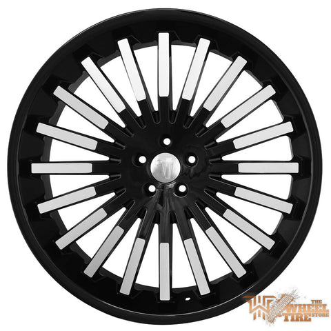VELOCITY VW18 Wheel in Gloss Black with Machined Accents