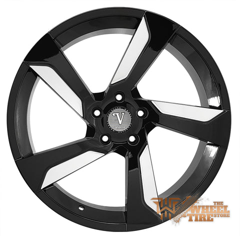 VELOCITY VW29A in Gloss Black & Milled Face (Set of 4)