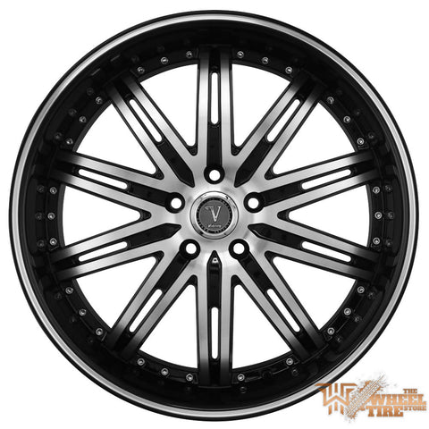 VELOCITY VW865 Wheel in Gloss Black with Machined Face & Milled Lip (Set of 4)