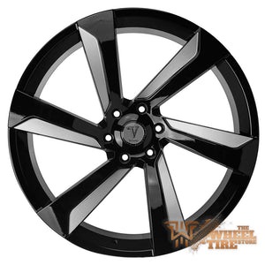 VELOCITY VW29B in Gloss Black & Milled Face (Set of 4)