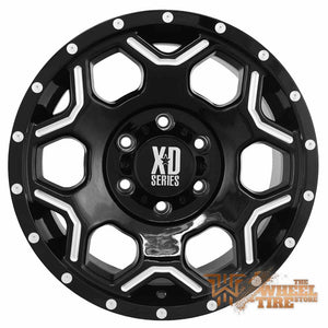 KMC XD Series XD812 'Crux' Wheel in Black w/ Milled Accents