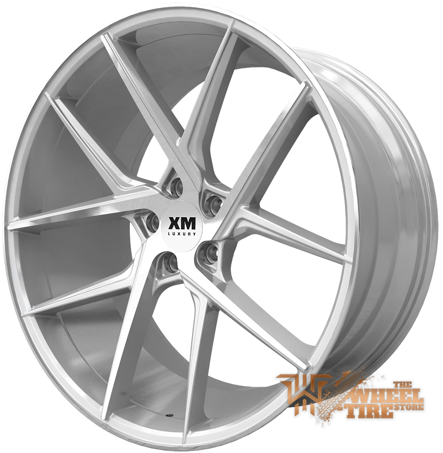 XM LUXURY XM-204 Wheel in Silver Machined (Set of 4)