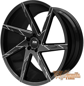 XM LUXURY XM-206 Wheel in Black Milled (Set of 4)