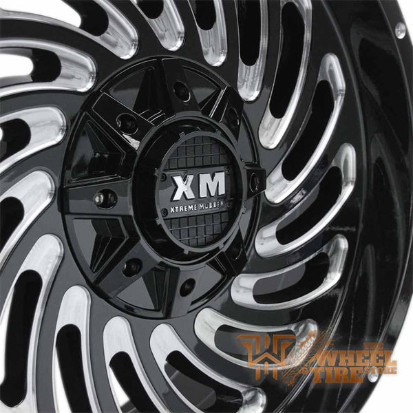 XTREME MUDDER XM-306 Wheel in Gloss Black with Milled Edging