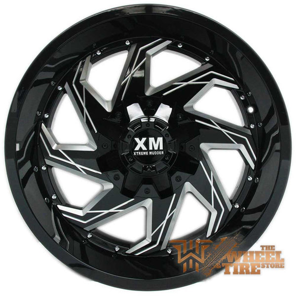 XTREME MUDDER XM-309 Wheel in Gloss Black with Milled Edging (Set of 4)