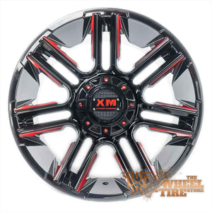 XTREME MUDDER XM-314 Wheel in Gloss Black with Red Milled Edges (Set of 4)