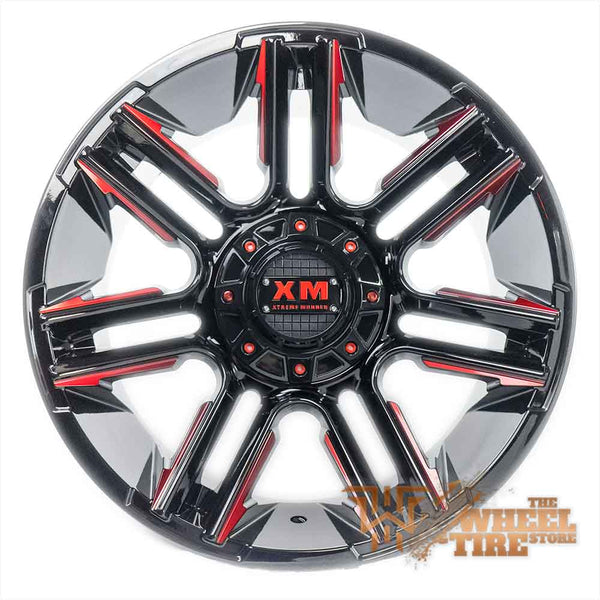 XTREME MUDDER XM-314 Wheel in Gloss Black with Red Milled Edges