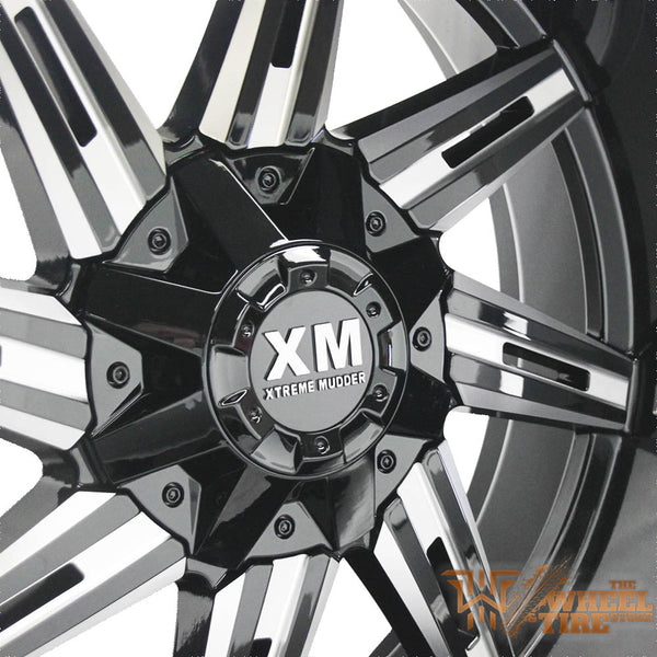 XTREME MUDDER XM-321 Gloss Black Milled (Set of 4)