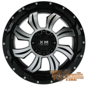 XTREME MUDDER XM-323 Wheel in Gloss Black & Machined Face (Set of 4)