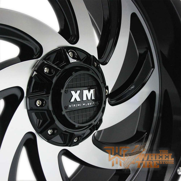 XTREME MUDDER XM-324 Wheel in Gloss Black & Machined Face (Set of 4)