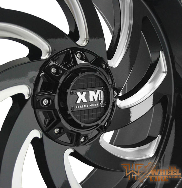 XTREME MUDDER XM-324 Gloss Black w/ Milled Windows