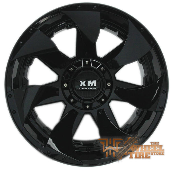 XTREME MUDDER XM-326 Wheel in Gloss Black with Black Inserts (Set of 4)