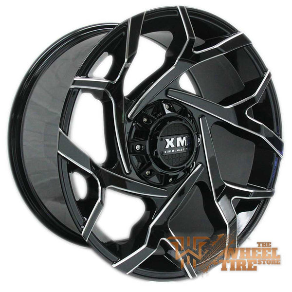 XTREME MUDDER XM-333 Wheel in Gloss Black Milled (Set of 4)