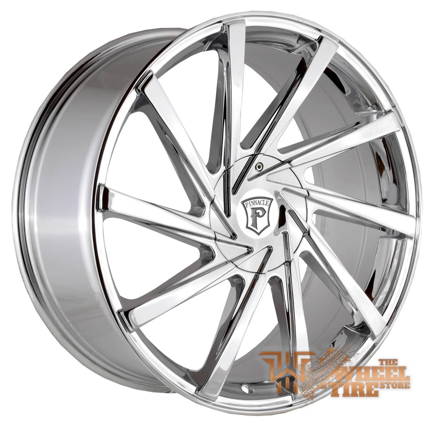 Pinnacle P90 'Turbina' Wheel in Chrome (Set of 4)