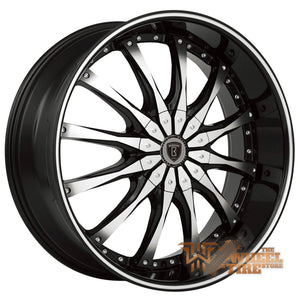 BORGHINI B8 Wheel in Black and Machined (Set of 4)