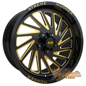 XTREME MUDDER XM-346 Wheel in Gloss Black Yellow Milled (Set of 4)