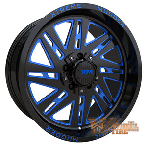 XTREME MUDDER XM-347 Wheel in Gloss Black Blue Milled (Set of 4)
