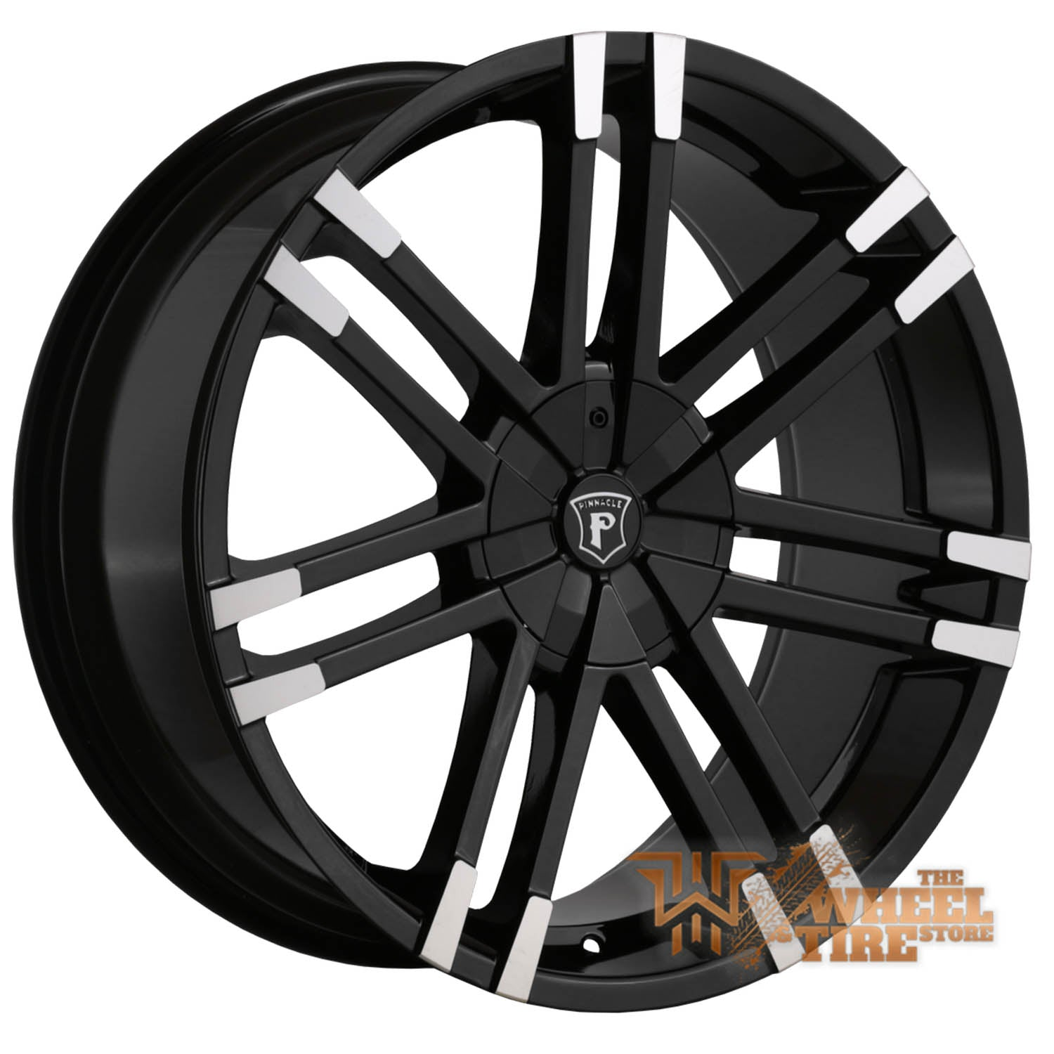 Pinnacle P88 'Valenti' Wheel in Gloss Black Machined Tips