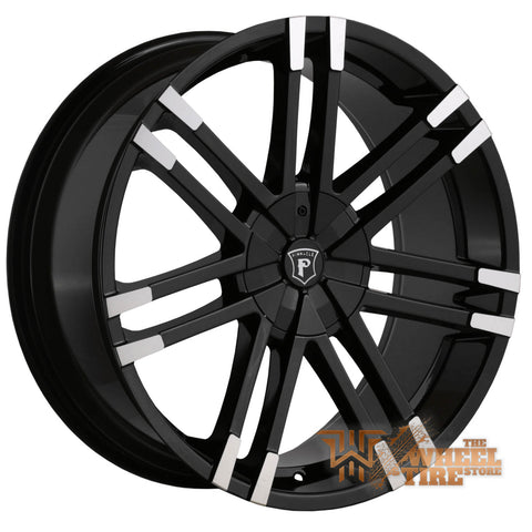 Pinnacle P88 'Valenti' Wheel in Gloss Black Machined Tips (Set of 4)