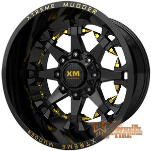 XTREME MUDDER XM-337 Wheel in Gloss Black Yellow Milled (Set of 4)