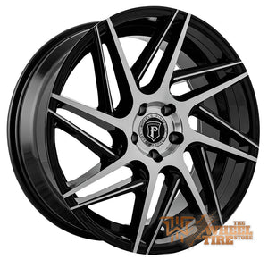 Pinnacle P104 'Swerve' Wheel in Gloss Black Machined & Milled (Set of 4)