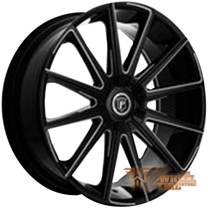 Pinnacle P98 'Hype' Wheel in Gloss Black Milled (Set of 4)