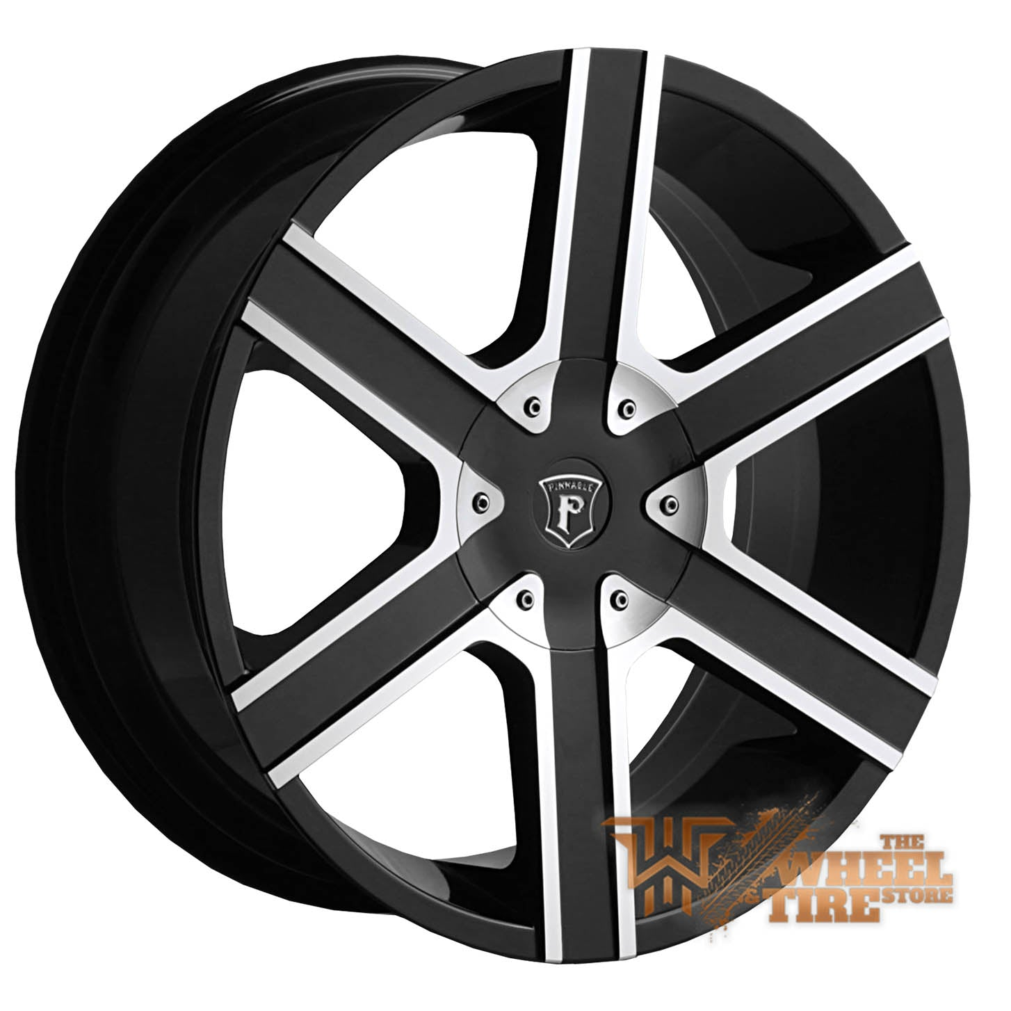Pinnacle P92 'Gallant' Wheel in Gloss Black Machined (Set of 4)