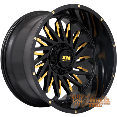 XTREME MUDDER XM-330 Wheel in Gloss Black Yellow Milled