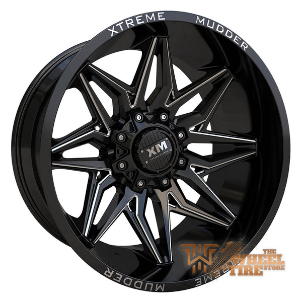 Custom Order - XTREME MUDDER XM-342 Wheel in Gloss Black Milled