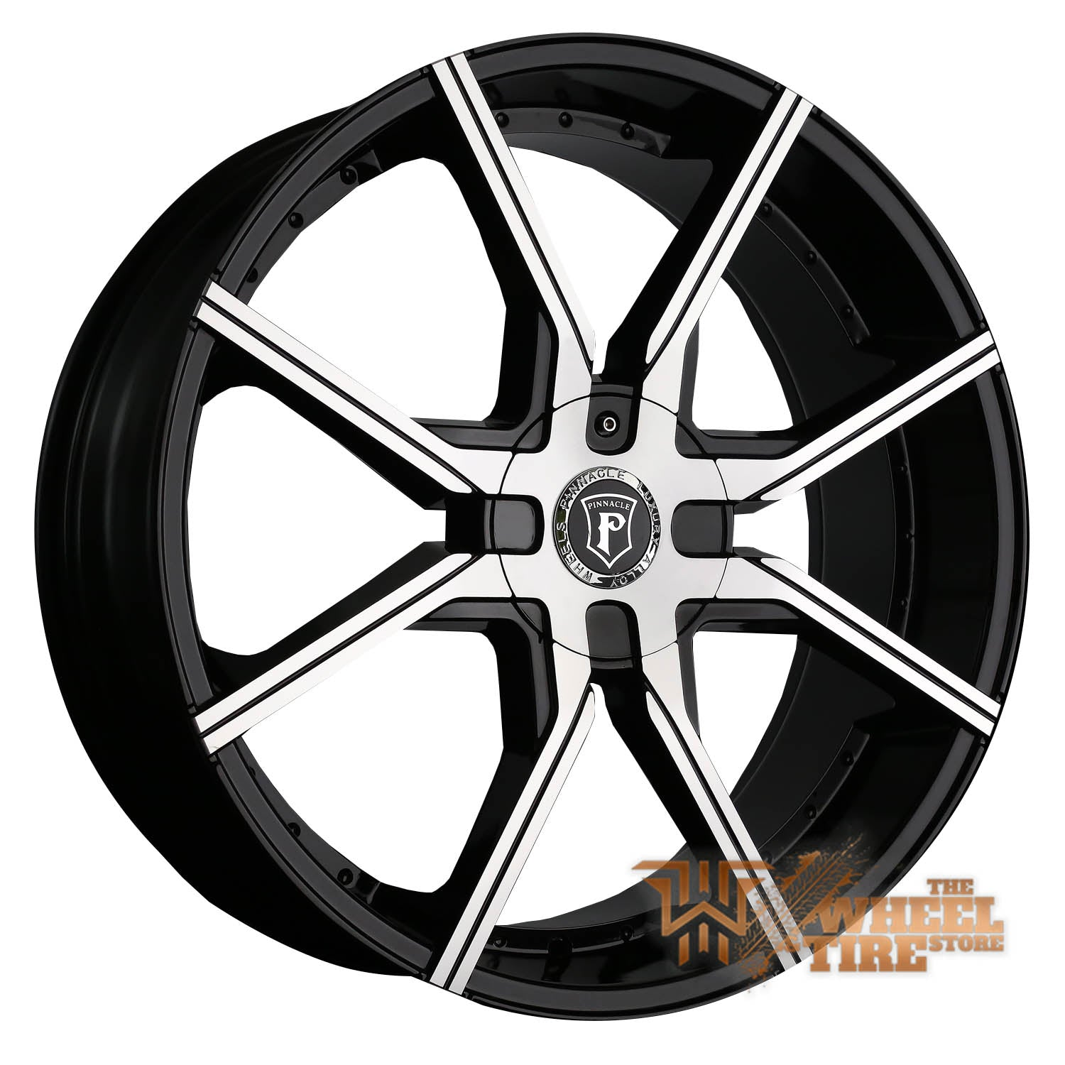 Pinnacle P96 'Hype' Wheel in Gloss Black Machined (Set of 4)