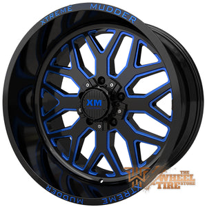 XTREME MUDDER XM-401 Wheel in Gloss Black Blue Milled (Set of 4)