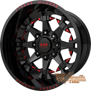 XTREME MUDDER XM-337 Wheel in Gloss Black Red Milled (Set of 4)