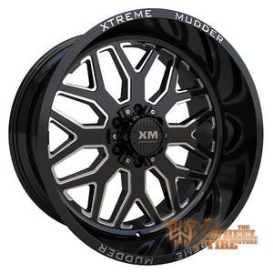 XTREME MUDDER XM-401 Wheel in Gloss Black Milled (Set of 4)