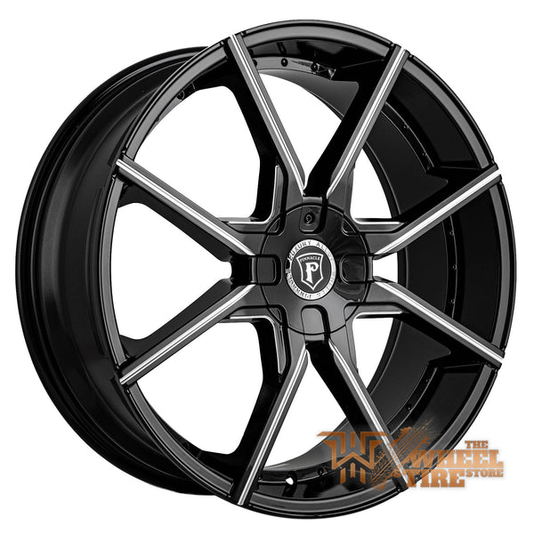 Pinnacle P96 'Hype' Wheel in Gloss Black Milled (Set of 4)