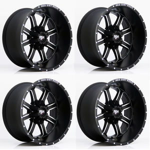 RED DIRT ROAD PACKAGE: Red Dirt Road RD01 Wheel in Black & Machined (Set of 5)