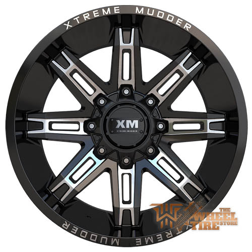 XTREME MUDDER XM-335 Wheel in Gloss Black Milled