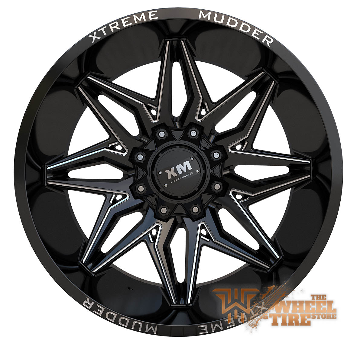 XTREME MUDDER XM-342 Wheel in Gloss Black Milled