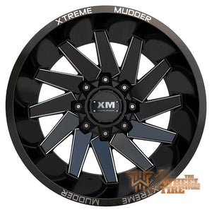 XTREME MUDDER XM-344 Wheel in Gloss Black Milled