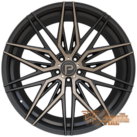 Pinnacle P210 'Majestic' Wheel in Gloss Black w/ Bronze Tint Machined (Set of 4)