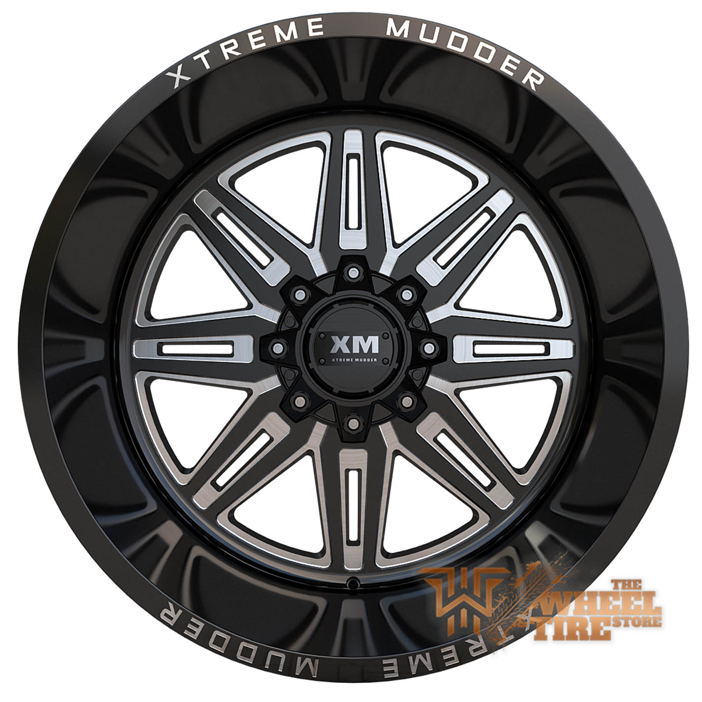 XTREME MUDDER XM-341 Wheel in Gloss Black Milled (Set of 4)
