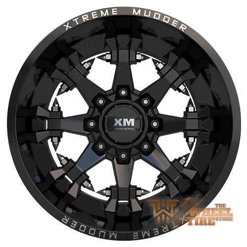 XTREME MUDDER XM-337 Wheel in Gloss Black Milled (Set of 4)