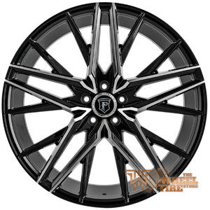 Pinnacle P106 'Stellar' Wheel in Gloss Black Machined (Set of 4)