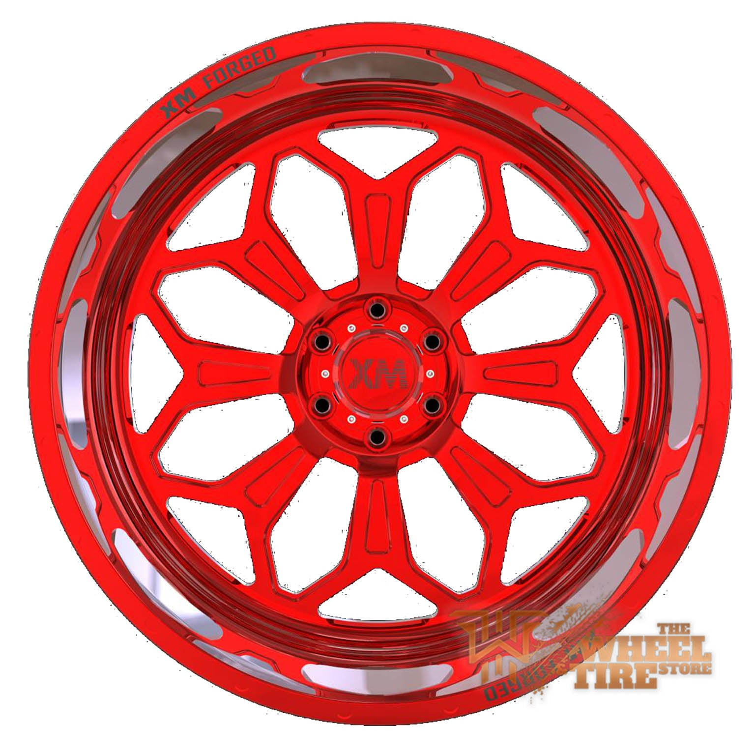 XTREME MUDDER XM-F1 Wheel in Hyper Red (Set of 4)