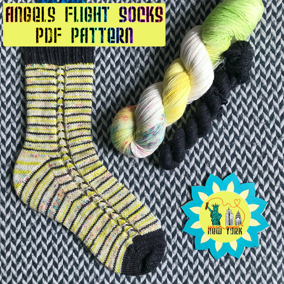 Angels Flight Socks Pattern -- digital download