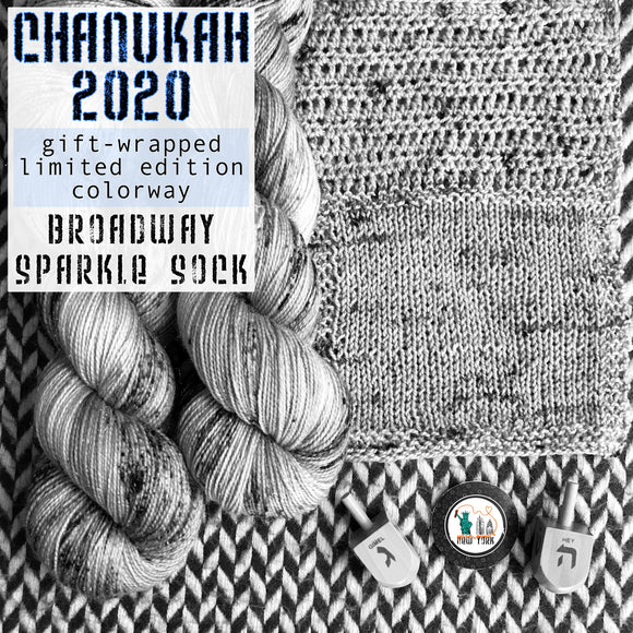 CHANUKAH 2020 -- Broadway sparkle sock -- Limited Edition yarn