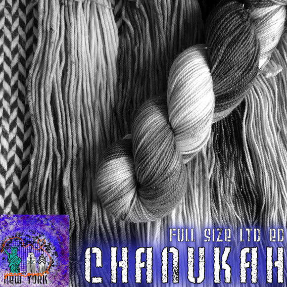 CHANUKAH 2020 -- Limited Edition -- pre-order hand-dyed yarn