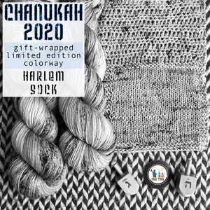 CHANUKAH 2020 -- Harlem sock -- Limited Edition yarn